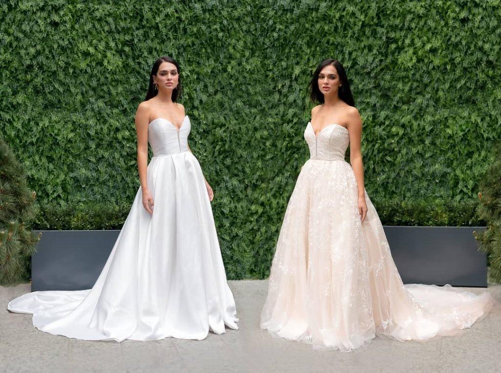 obojestranska poročna obleka