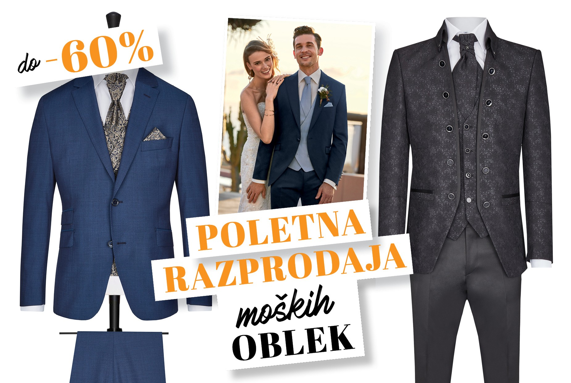 poletna razprodaja moskih oblek