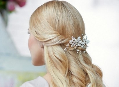 half up half down bridal hairstyle elstile ru b