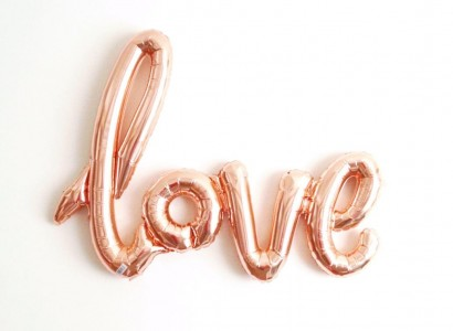 love rose gold balon