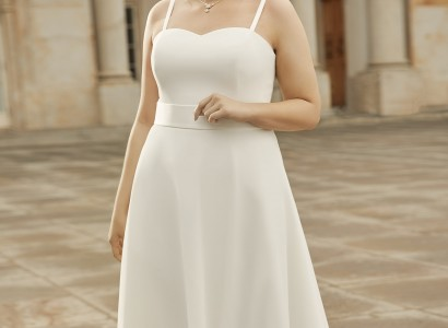 PEONIA plus size Bianco Evento bridal dress 1