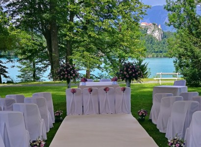 Vila Bled Wedding near Lake poroka ob jezeru Blejs