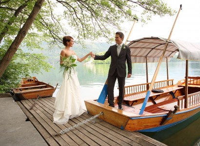 Wedding, Vila Bled pier