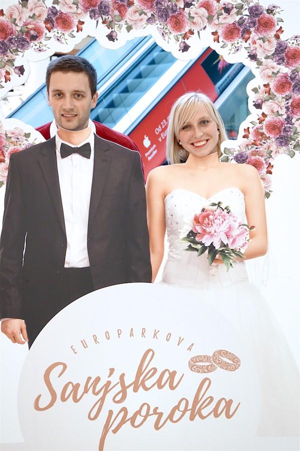 Srečna zmagovalca Europarkove sanjske poroke sta