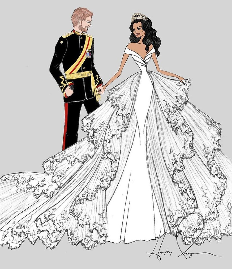 meghan markle wedding dress hayley paige